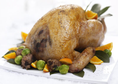 Roast Turkey with Christmas Pudding & Cherry Stuffing