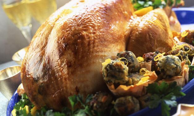 Roast British Turkey with Spinach & Pine Kernel Stuffing