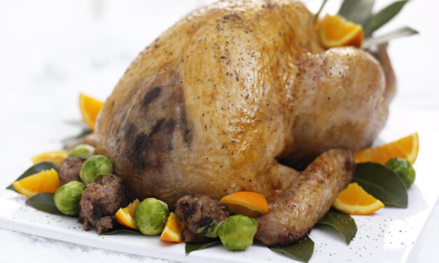 Roast Turkey with Christmas Pudding & Cherry Stuffing