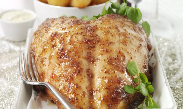Redcurrant, Horseradish & Mustard Glazed Turkey Crown