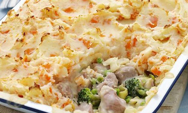 Potato Topped Turkey Pie