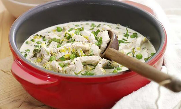 Ten Minute Turkey with Peas & Leeks