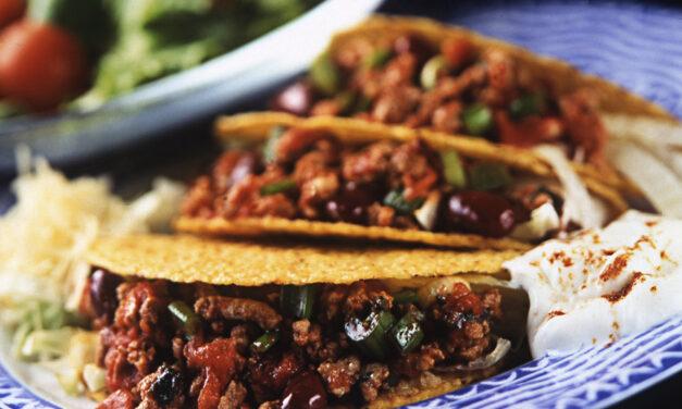 Spicy British Turkey Tacos