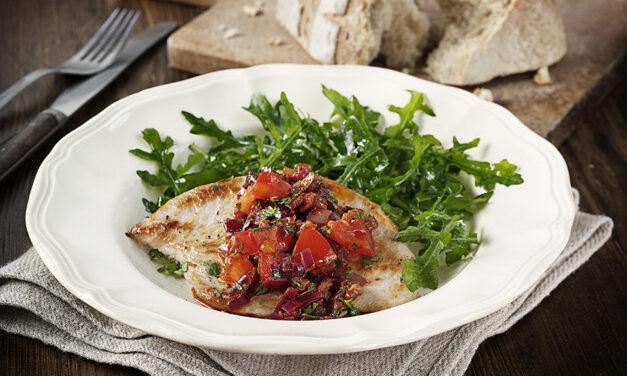 Sauteed Turkey with Harissa & Tomatoes