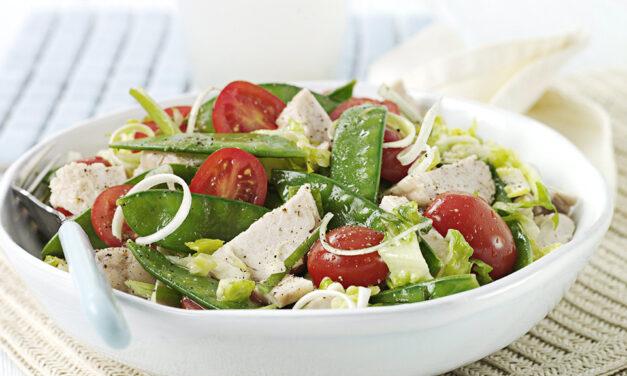 Turkey and Mange Tout Salad