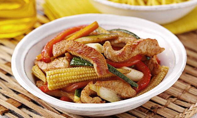 Turkey Rainbow Stir Fry