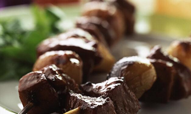 British Turkey & Shallot Kebabs