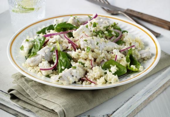 Turkey Bulgar Wheat, Mint & Feta Salad
