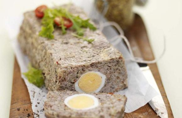 Turkey Meatloaf with Onions & Boiled Eggs