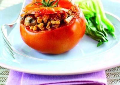 Turkey-stuffed tomatoes