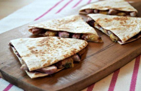 Turkey, Cranberry & Stilton Quesadillas