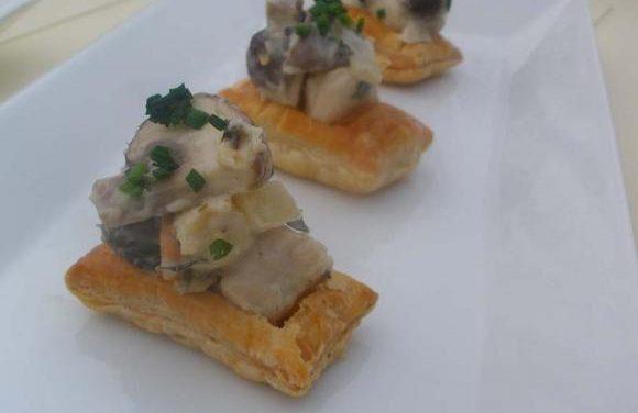 Turkey, Ham & Mushroom Pie Canapés