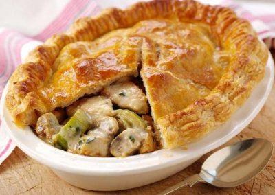 Turkey, Leek & Mushroom Pie