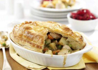 Turkey, Pea & Tarragon Pie