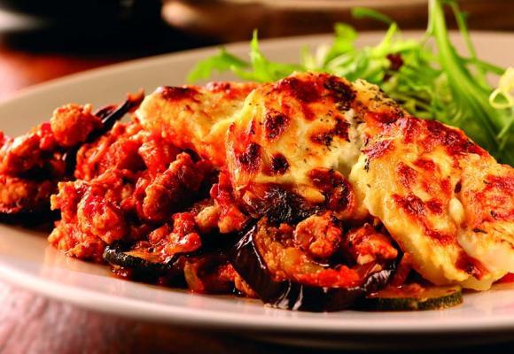 Turkey & roasted vegetable moussaka