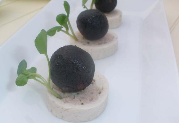 Turkey Ballontine & Black Pudding Bon Bon Canapés