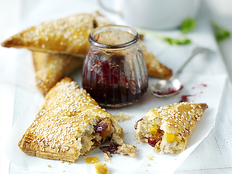 Turkey Apricot Cranberry Turnovers