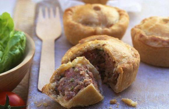 British Turkey & Bacon Pies
