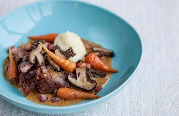Slow Cooked Turkey Leg, Pancetta, Wild Mushrooms & Baby Vegetables