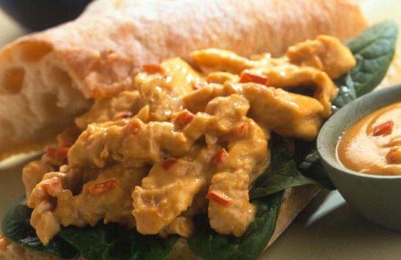 British Turkey Satay Sandwich