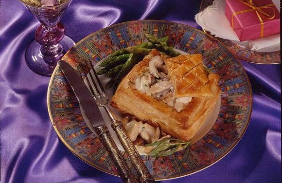 British Turkey Troves with Champagne Sauce