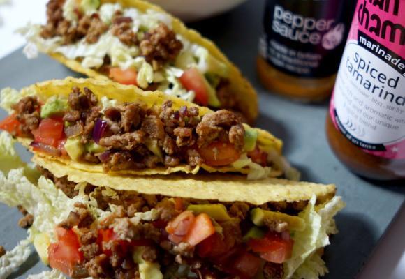 Chancham Spiced Tamarind & Minced Turkey Tacos