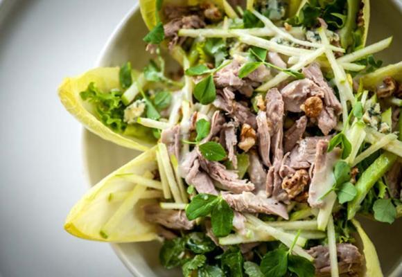 Dominic Chapman's Turkey, Stilton, Chicory & Walnut Salad