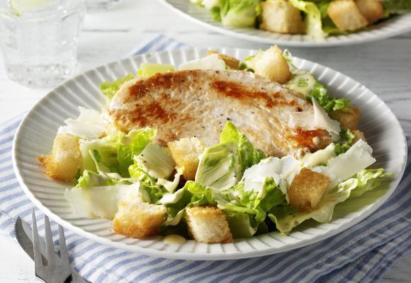 Easy Turkey Caesar Salad