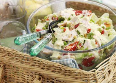Green Pesto Turkey Salad with Pine Nuts & Iceberg