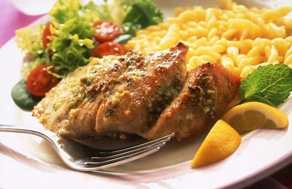 Grilled British Turkey with Lemon & Mint Pesto