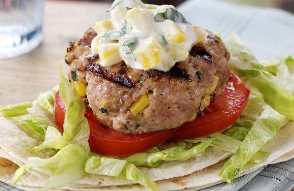 Juicy Turkey Basil & Corn Burgers