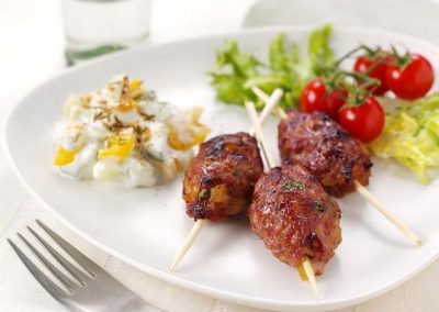 Turkey Skewers with Garlic, Soy & Ginger