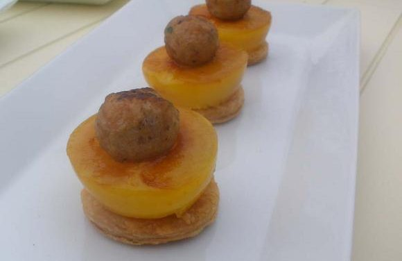 Turkey & Spiced Plum Galette Canapés