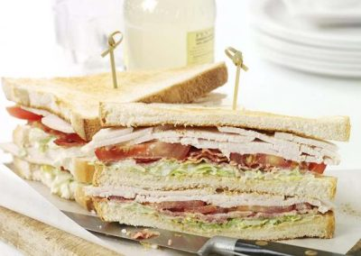 Turkey & Bacon Club Sandwich with Lemon Mayo