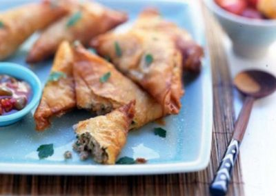 Phil Vickery's Spiced Deep Fried British Turkey Filos