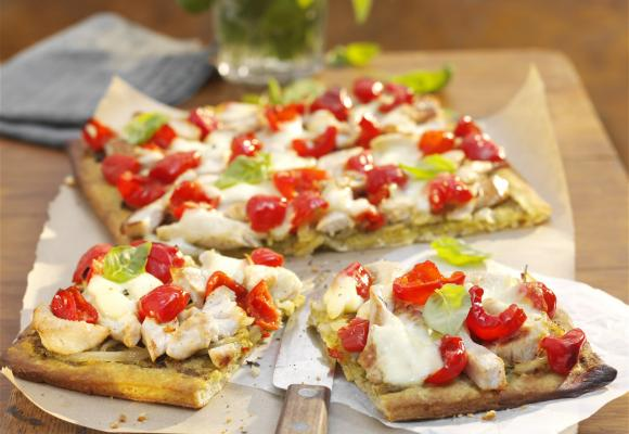 Pissaladiere with Turkey & Peppadew Peppers